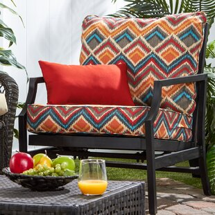 Deep Seat Outdoor Lounge Chair Cushion (Set of 2)