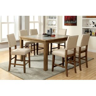 Crafton 7 Piece Pub Table Set (Set of 2) Alcott Hill