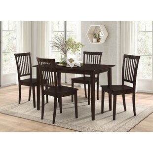Puentes Wooden 5 Piece Dining Set by Charlton Home