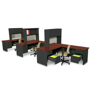 Crivello L-Shape Executive Desk With Hutch by Red Barrel Studio Today Sale Only