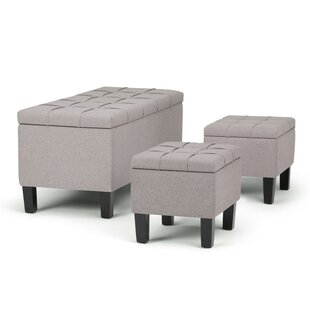 Simpli Home Dover 3 Piece Storage Bench