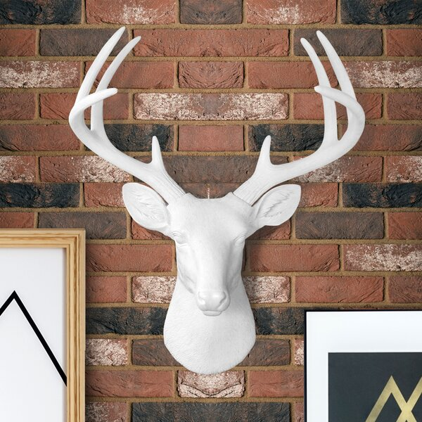 Ivy Bronx Semaj Faux Taxidermy Deer Head Wall Decor Reviews Wayfair