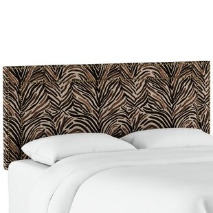 Affordable Genevie Nail Button Border Washed Zebra Upholstered Panel Headboard by Bloomsbury Market