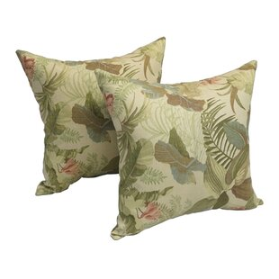 Hogan Herb Jungle Indoor/Outdoor Throw Pillow (Set of 2)