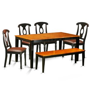 Pillar 6 Piece Wood Dining Set August Grove