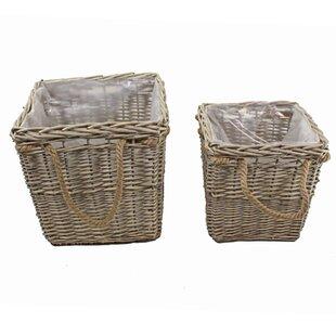 2 Piece Wicker Basket Set By The Seasonal Aisle