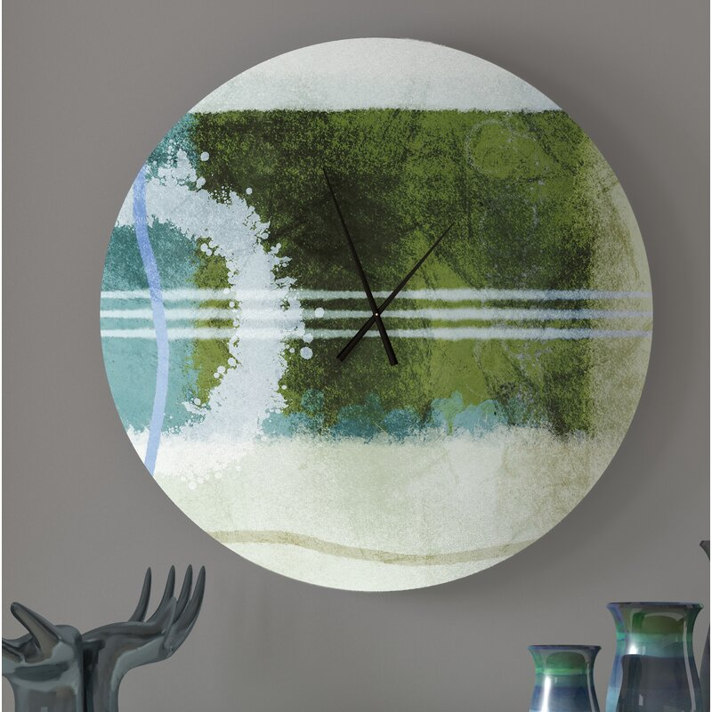 Latitude Run Prevalent Recommendable Abstract Metal Wall Clock Wayfair