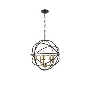 Redfield 5-Light Globe Pendant by Wrought Studio