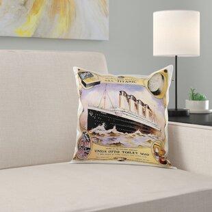 Vintage Star Line Titanic Vinolia Otto Toilet Soap Advertising Poster Pillow Cover