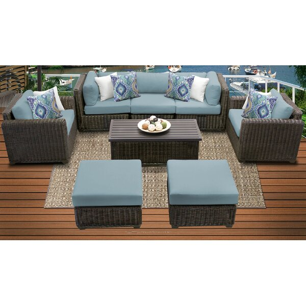 Tk Clics Venice Outdoor 8 Piece Sofa Seating Group With Cushions Wayfair