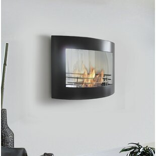 Perseo Wall Mounted Bio Ethanol Fire By PURLINE