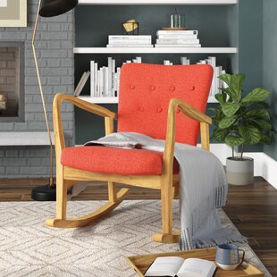 Brayden Studio Sauceda Fabric Rocking Chair
