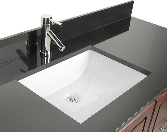 D\'Vontz Ceramic Rectangular Undermount Bathroom Sink with Overflow ...