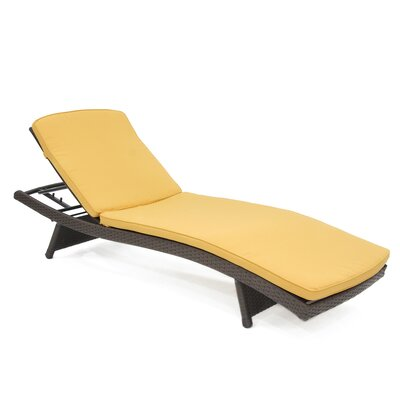 Indoor/Outdoor Chaise Lounger Cushion