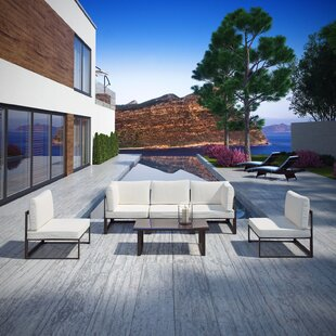 Fehi Outdoor Patio 6 Piece Sectional Seating Group with Cushions