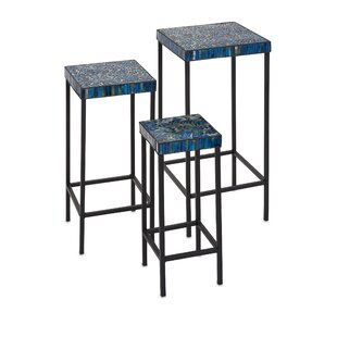Shani 3 Piece Mosaic End Tables by Bloomsbury Market