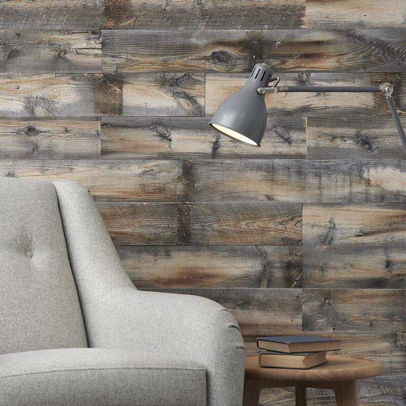 Centennial Woods 5 Reclaimed Solid Wood Wall Panelling Reviews Wayfair Ca
