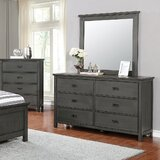 Keeneland 6 Drawer Double Dresser with Mirror by Winston Porter