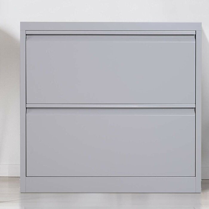 Donita Metal 2 Drawer Lateral Filing Cabinet