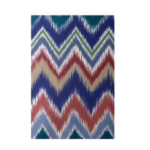 Chevron Hand-Woven Brown/Rust Indoor/Outdoor Area Rug