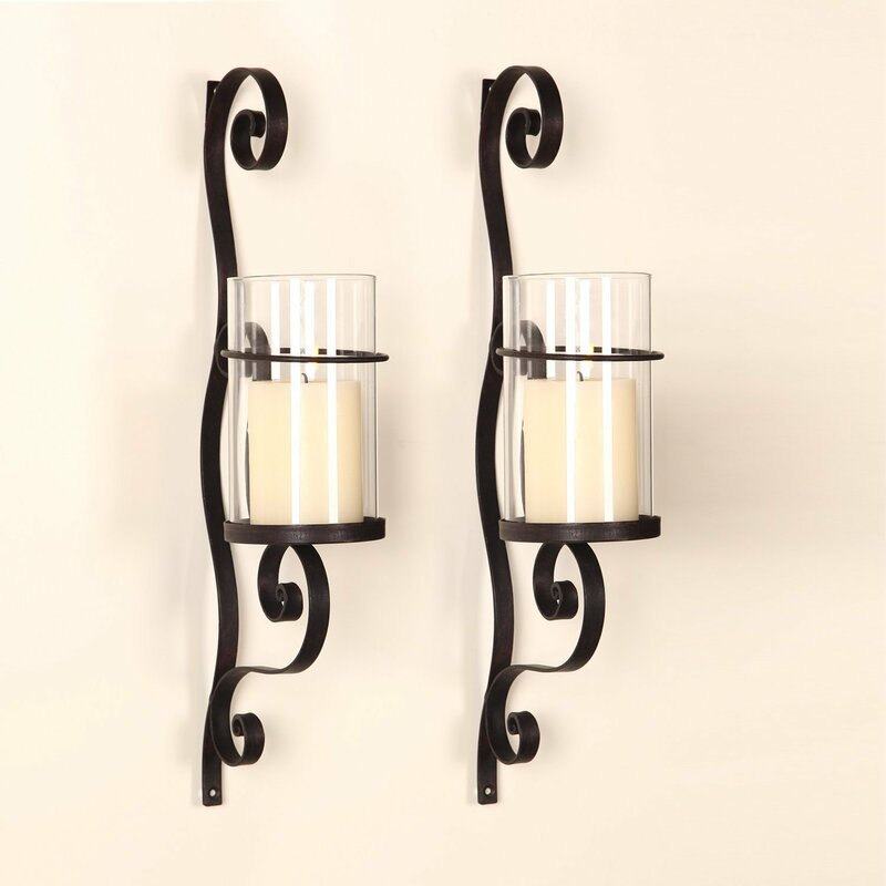 Metal Wall Sconces For Candles red barrel studio iron wall sconce candle holder & reviews | wayfair