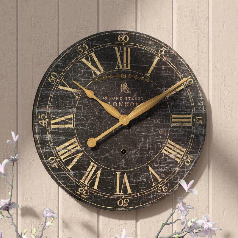 Lark Manor Saint Benoit 18 Round Wood Wall Clock Reviews Wayfair