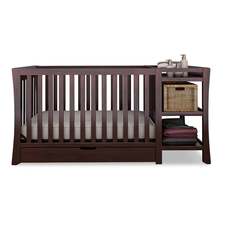 Tatum 4-in-1 Convertible Crib and Changer Combo with Storage