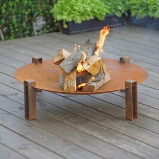 Pulaski Steel Charcoal/Wood Burning Fire Pit By Sol 72 Outdoor