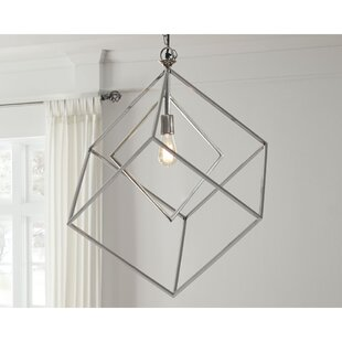 Binion 1-Light Square Pendant by Wrought Studio