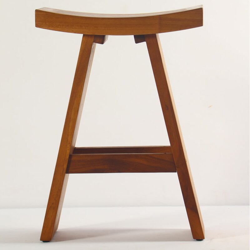 Contemporary Solid Teak Shower Seat