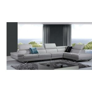 Alsatia Leather Reclining Sectional by Wade Logan