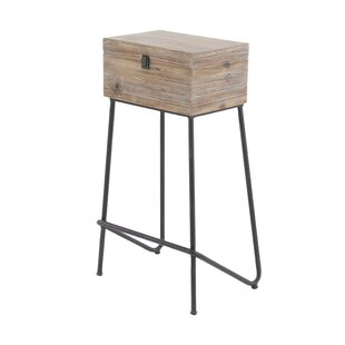 Kail Rustic Wood Box End Table