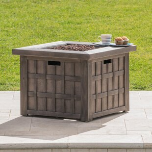 17 Stories Coombs Stone Propane Fire Pit Table