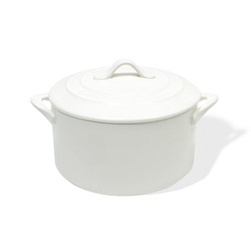White Basics 3.72-qt. Round Casserole