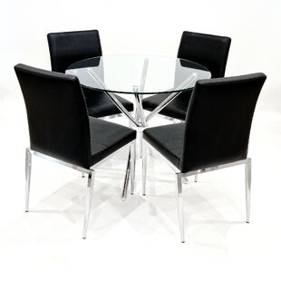Pomonok Dining Set With 4 Chairs By Wade Logan