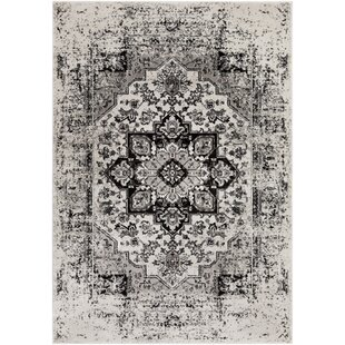 Best Reviews Randazzo Vintage Oriental Charcoal/Taupe Area Rug By Bungalow Rose