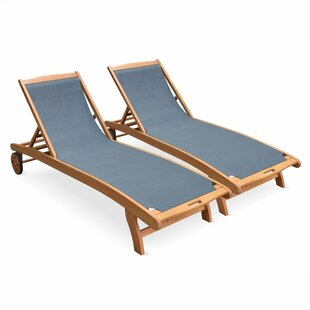 Oneal Reclining Sun Lounger (Set Of 2) By Sol 72 Outdoor