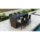 Glen Ellyn 7 Piece Bar Height Dining Set with Sunbrella Cushion