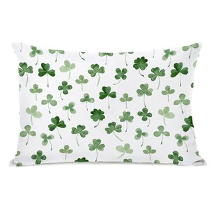 Zinnia Shamrocks Lumbar Pillow