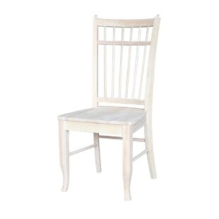Montura Solid Wood Dining Chair (Set of 2) Beachcrest Home