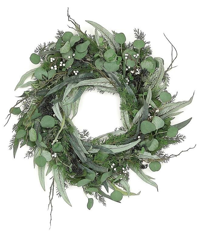Seeding Eucalyptus & Cedar 24 in. Wreath