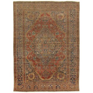 One-of-a-Kind Kashan Hand-Knotted 10'2 x 13'6 Wool Brown/Beige Area Rug By Pasargad