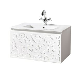 Chong 810mm Wall Hung Single Vanity Unit By Fleur De Lis Living