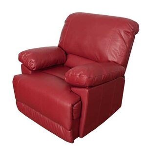 Red Leather Reclining Chair red recliners - chairs & recliners | wayfair