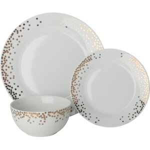 Gatsby 12 Piece Dinnerware Set, Service for 4 (Set of 4)