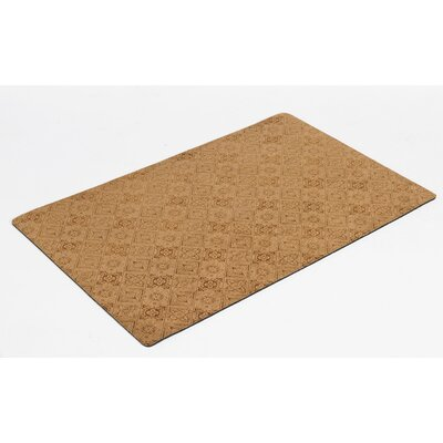 Bowsers Diam Microvelvet Pet Door mat Color: Pecan Filigree