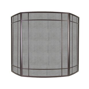 Asteria 3 Panel Steel Fireplace Screen by Pleasant Hearth