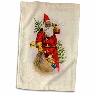 d8aef6feb347a Behan Illustration of African American Santa Claus Hand Towel