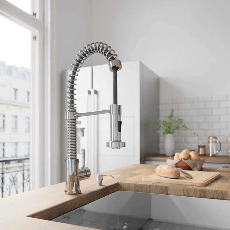 Edison Pull Down Single Handle Kitchen Faucet