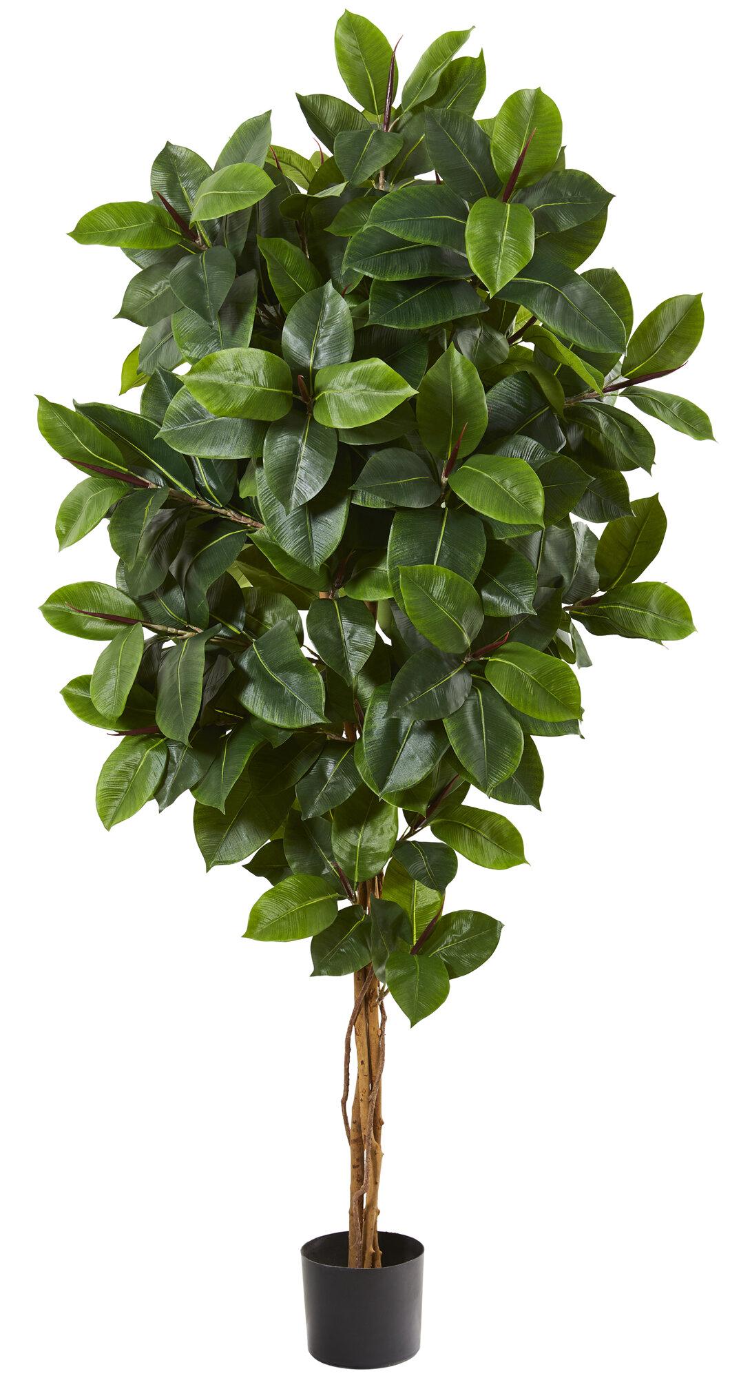 Artificial Rubber Leaf Tree In Pot Liner Joss Main